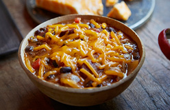 Barbecue Bean and Cheese Chili