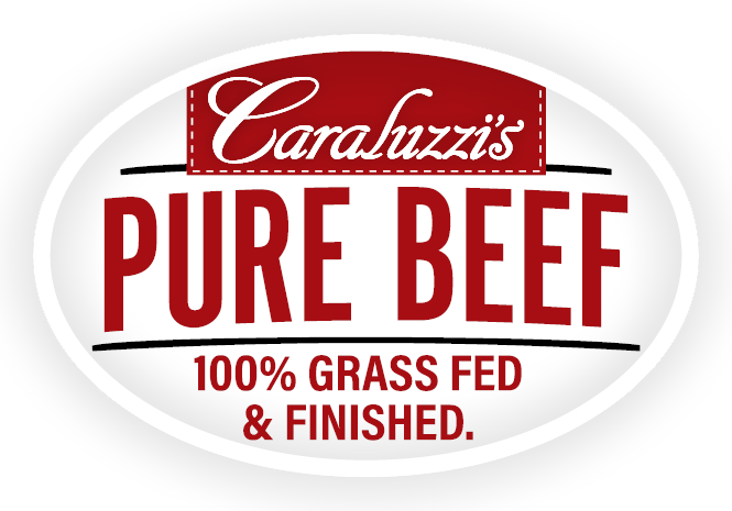 Caraluzzi's Pure Beef Logo 100% Grass fed and finished antibiotic free beef