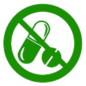 Antibiotic Free Icon