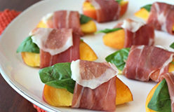 Prosciutto di Parma Wrapped Peaches